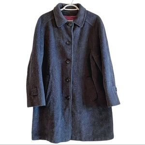Vintage muted blue wool and mohair coat